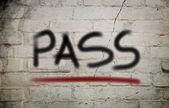 Pass Concept — Stock Photo