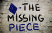 The Missing Piece Concept — Stock Photo