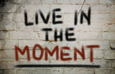 Live In The Moment Concept — Stock Photo