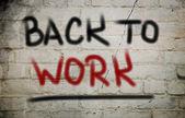 Back To Work Concept — Zdjęcie stockowe
