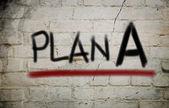 Plan A Concept — Zdjęcie stockowe