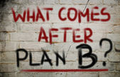 What Comes After Plan B Concept — Stockfoto