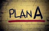 Plan A Concept — Stock Photo