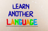 Learn Another Language Concept — Stock Photo