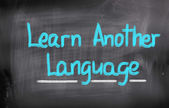 Learn Another Language Concept — Stockfoto