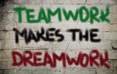 Týmová práce je koncept dreamwork — Stock fotografie