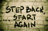 Step Back Start Again Concept — Stock Photo