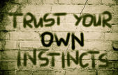 Trust Your Own Instincts Concept — Stock Photo
