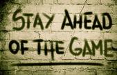 будьте впереди концепция игры — Стоковое фото