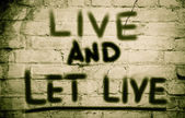 Live And Let Live Concept — Stock Photo