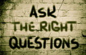 Ask The Right Questions Concept — Stock Photo