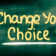 Change Your Choice Concept — Stock Photo #51169303