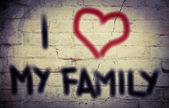Я люблю моя концепция семьи — Стоковое фото