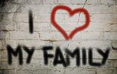 I Love My Family Concept — Foto de Stock