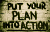Put Your Plan Into Action Concept — Foto Stock