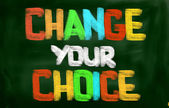 Change Your Choice Concept — 图库照片