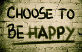 Choose To Be Happy Concept — Stock Photo