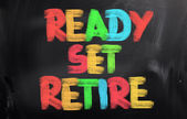 Ready Set Retire Concept — Stockfoto