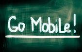 Go Mobile Concept — Stock Photo