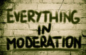 Everything in Moderation Concept — Stock Photo
