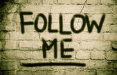 Follow Me Concept — Stock Photo