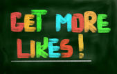 Get More Likes Concept — Stock Photo