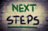 Next Steps Concept — Fotografia Stock