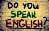 Do You Speak English Concept — Stok fotoğraf