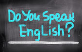 Do You Speak English Concept — Stock Photo