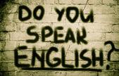 Do You Speak English Concept — Stockfoto
