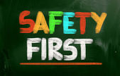 Safety First Concept — Stock Photo