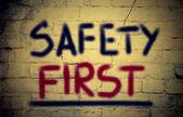 Första säkerhetskoncept — Stockfoto