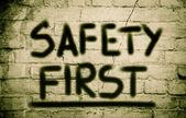 Primeiro conceito de segurança — Foto Stock