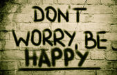 Don't Worry Be Happy Concept — Foto de Stock