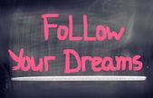 Follow Your Dreams Concept — Stockfoto