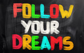 Follow Your Dreams Concept — Stock Photo