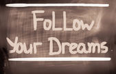 Follow Your Dreams Concept — Stock fotografie