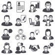 Icons set: business — Vettoriale Stock
