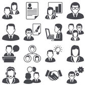 Pictogrammen instellen: bedrijf — Stockvector