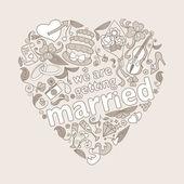 Wedding card design — Stock Vector