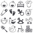 Icons set: Babies — Stock vektor