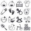 Icons set: Babies — Stockvectorbeeld