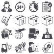 Icons set: Logistics — Image vectorielle