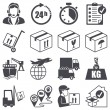 Stock Vector: Icons set: Logistics