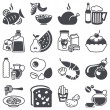 Vector de stock : Icons set: Food and Drink