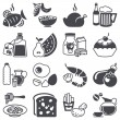 Stock Vector: Icons set: Food and Drink