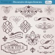 Vector de stock : Decorative design elements
