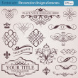 Decorative design elements — Vector de stock #24467669