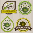 Tea labels. — Vettoriali Stock
