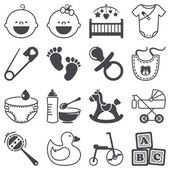 Icons set: Babies — Stock Vector